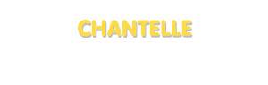 Der Vorname Chantelle