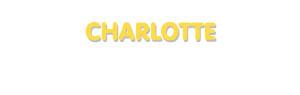 Der Vorname Charlotte