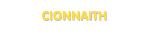 Der Vorname Cionnaith