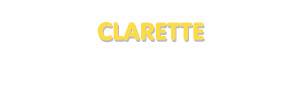 Der Vorname Clarette