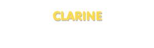 Der Vorname Clarine