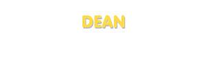 Der Vorname Dean