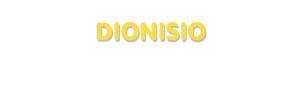 Der Vorname Dionisio
