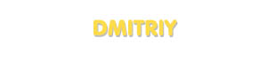 Der Vorname Dmitriy