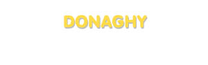 Der Vorname Donaghy