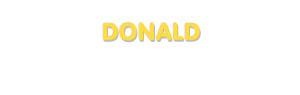 Der Vorname Donald