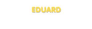 Der Vorname Eduard