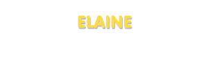 Der Vorname Elaine