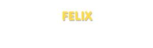 Der Vorname Felix