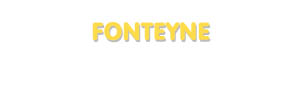 Der Vorname Fonteyne