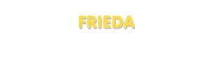 Der Vorname Frieda