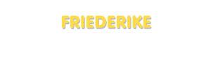 Der Vorname Friederike
