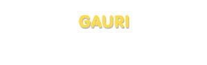 Der Vorname Gauri