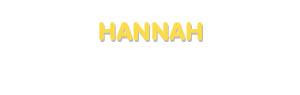Der Vorname Hannah