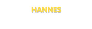 Der Vorname Hannes