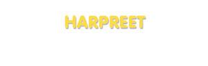 Der Vorname Harpreet