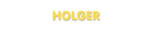 Der Vorname Holger