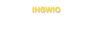 Der Vorname Ingwio