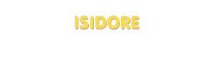 Der Vorname Isidore
