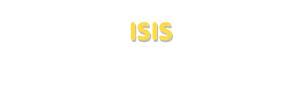 Der Vorname Isis
