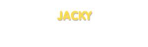 Der Vorname Jacky