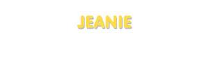 Der Vorname Jeanie