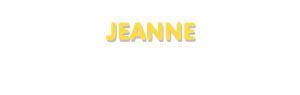 Der Vorname Jeanne