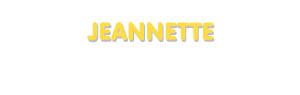 Der Vorname Jeannette