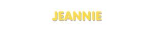 Der Vorname Jeannie