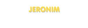 Der Vorname Jeronim