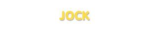 Der Vorname Jock