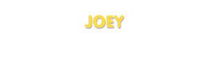 Der Vorname Joey