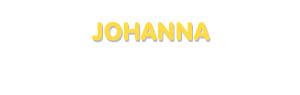 Der Vorname Johanna