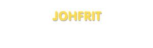 Der Vorname Johfrit
