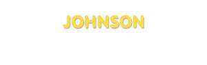 Der Vorname Johnson
