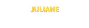 Der Vorname Juliane