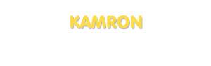 Der Vorname Kamron