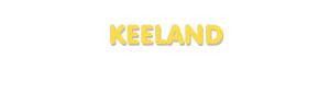 Der Vorname Keeland