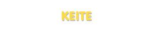 Der Vorname Keite