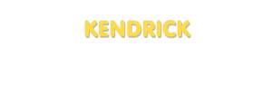 Der Vorname Kendrick