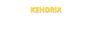Der Vorname Kendrix
