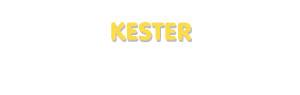 Der Vorname Kester