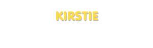 Der Vorname Kirstie