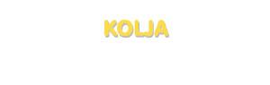 Der Vorname Kolja