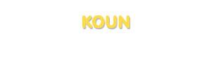 Der Vorname Koun