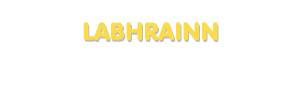 Der Vorname Labhrainn