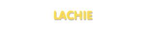 Der Vorname Lachie