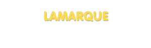 Der Vorname Lamarque