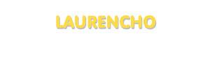 Der Vorname Laurencho