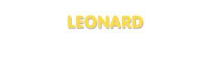 Der Vorname Leonard